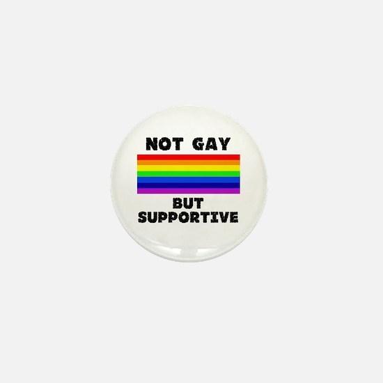 Not Gay Mini Button