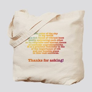Color of the Sky Tote Bag