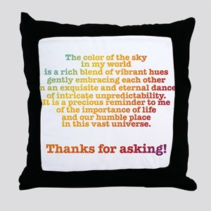 Color of the Sky Throw Pillow