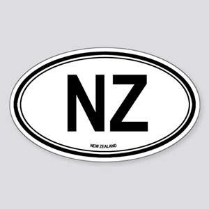 New Zealand (NZ) euro Oval Sticker