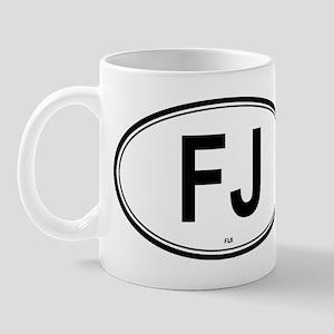 Fiji (FJ) euro Mug