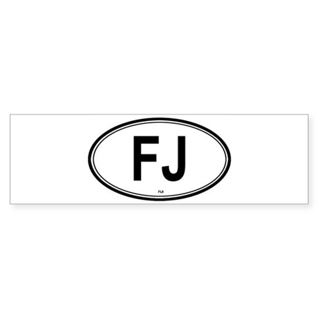 Fiji (FJ) euro Bumper Sticker