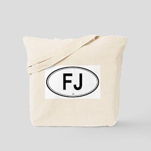 Fiji (FJ) euro Tote Bag
