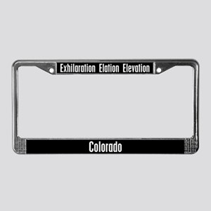 Colorado Exhilaration License Plate Frame