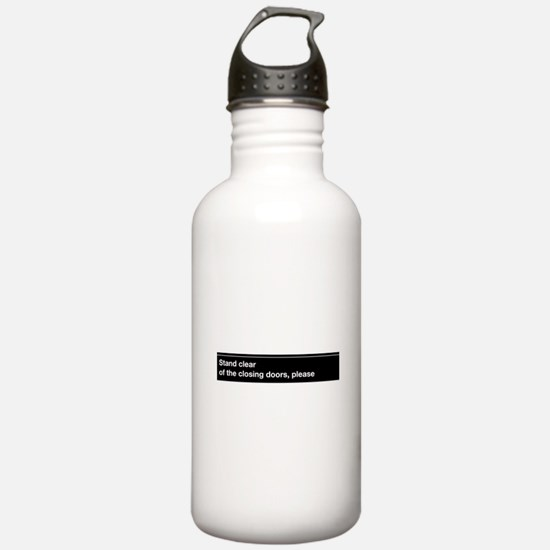 NYC Subway closing doors Water Bottle