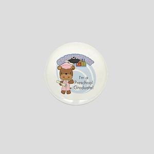 Girl Bear Preschool Grad Mini Button