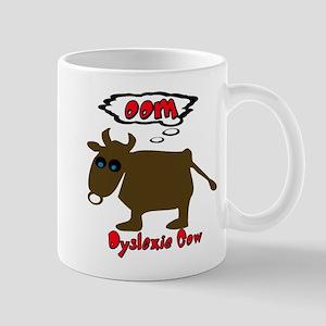 Funny Dyslexic Cow Mug