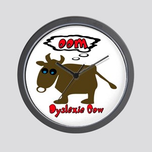 Funny Dyslexic Cow Wall Clock