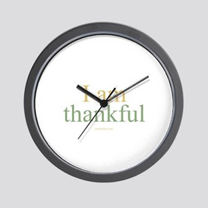 I am thankful Wall Clock