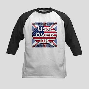 USA OVER UK Kids Baseball Jersey