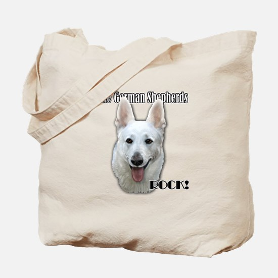 White German Shepherds Rock Tote Bag