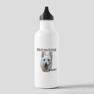 White German Shepherds Rock Stainless Water Bottle