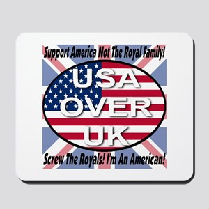 USA OVER UK Mousepad