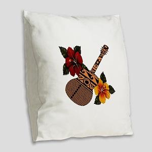 OH THE SOUNDS Burlap Throw Pillow