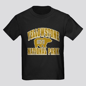 Yellowstone Old Style Gold Kids Dark T-Shirt
