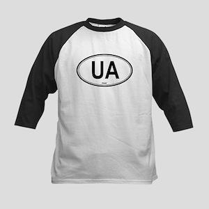 Ukraine (UA) euro Kids Baseball Jersey