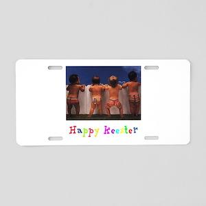Happy Keester Aluminum License Plate