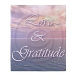 Love and Gratitude Throw Blanket - 2 Sided