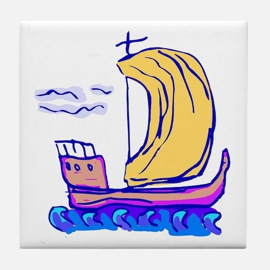Unique Ship Tile Coaster