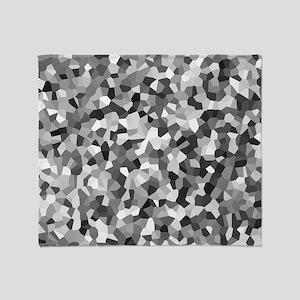 Grey Mosaic Pattern Throw Blanket