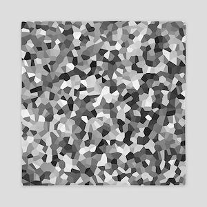 Grey Mosaic Pattern Queen Duvet