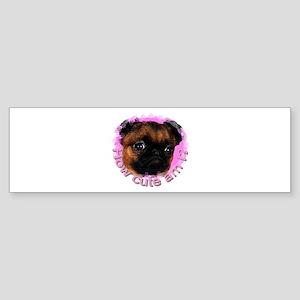Brussels Griffon (Short Hair) Bumper Sticker