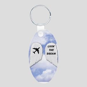 Livin' The Dream Aluminum Oval Keychain