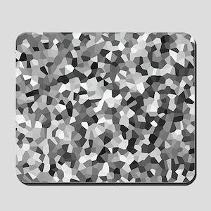 Grey Mosaic Pattern Mousepad
