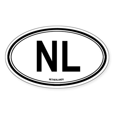 Netherlands (NL) euro Oval Sticker