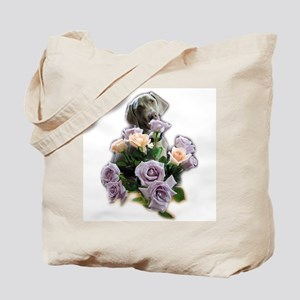 Blue-quet of Roses Tote Bag