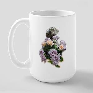 Blue-quet of Roses Large Mug
