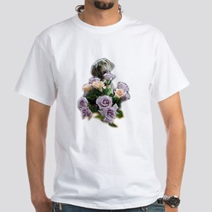 Blue-quet of Roses White T-Shirt