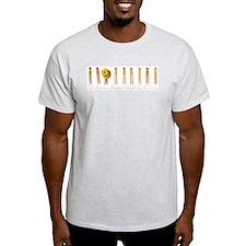 Pin line Ash Grey T-Shirt