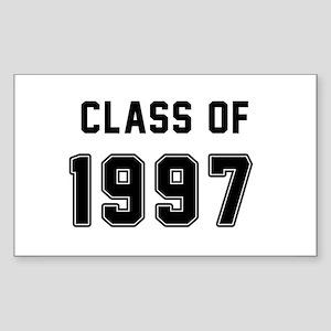 Class of 1997 Black Sticker
