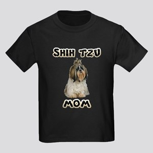 Shih Tzu Mom Kids Dark T-Shirt