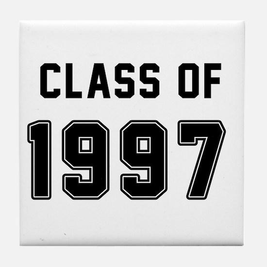 Class of 1997 Black Tile Coaster