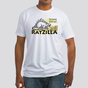 Ratzilla Fire-Spewing Rat Fitted T-Shirt
