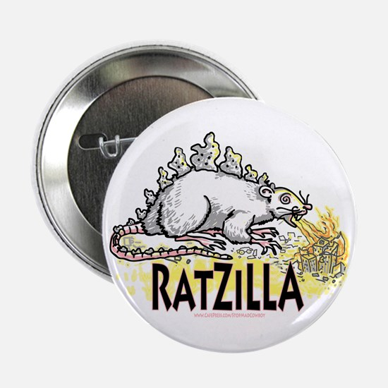 Ratzilla Fire-Spewing Rat Button