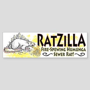 Ratzilla Fire-Spewing Rat Bumper Sticker