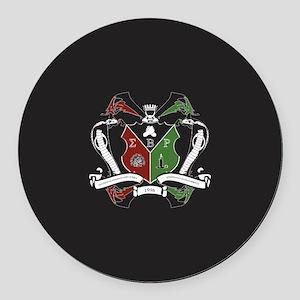 Sigma beta Rho Fraternity Crest Round Car Magnet