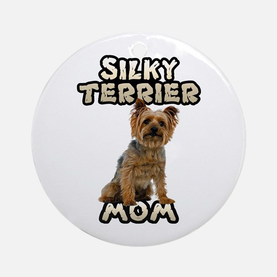 Silky Terrier Mom Ornament (Round)