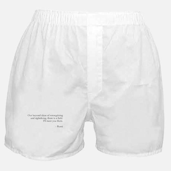 Rumi quotes Boxer Shorts
