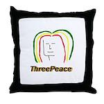 ThreePeace Rasta Throw Pillow