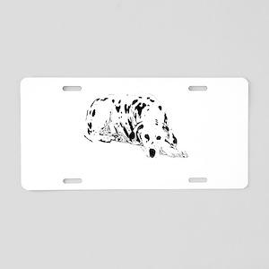 dalmation dog Aluminum License Plate