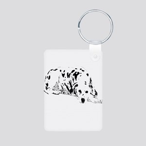 dalmation dog Aluminum Photo Keychain