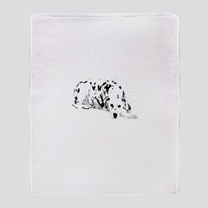 dalmation dog Throw Blanket