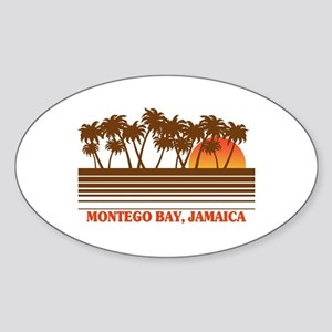 Montego Bay Jamaica Oval Sticker