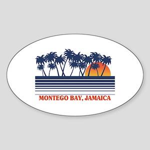Montego Bay Jamaica Oval Sticker