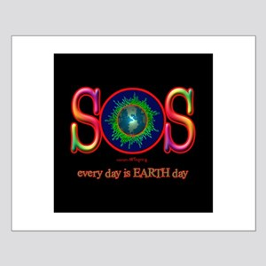 SOS Earth Day Small Poster