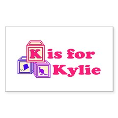 Baby Blocks Kylie Sticker (Rectangle 50 pk)